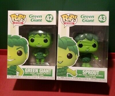 Funko Pop GREEN GIANT #42 SPROUT #43 Set of 2 Ad Icons In-Hand MINT NEW HO HO HO