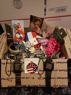 Sterling Silver Mixed Junk Drawer Lot of Misc jewelry and other items