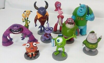 Disney Pixar Monsters University PVC figures Sully Mike Art Randy Carrie Johnny