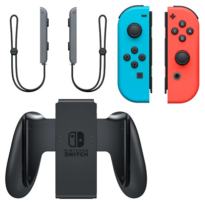 Nintendo Switch Joy-Con Neon Red & Blue Controller Bundle USED