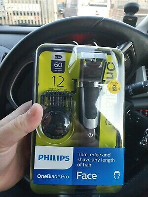 Philips OneBlade Pro Face QP6510/25 Wet & Dry Hair Trimmer Brand New Sealed