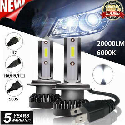 UK 110W 20000LM Car LED Headlight Bulb H1 H7 H8 H9 H11 9005 9006 Kit Xenon White