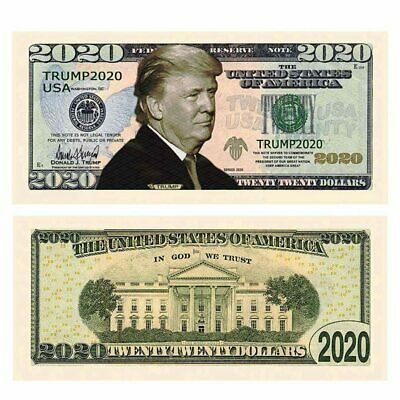 Pack of 10 - Donald Trump 2020 Re-Election Presidential Dollar Bill