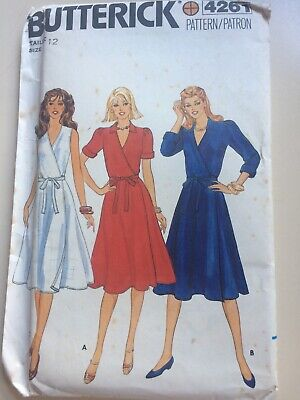 Butterick 4261 Sewing Pattern For Ladies Dress Size 12 Uncut