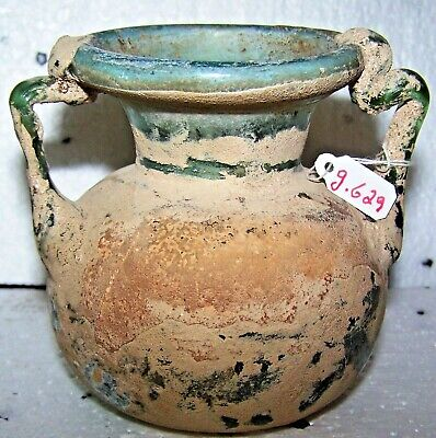 roman glass jar with two handles g629