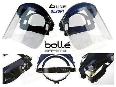 Bolle Face shield BL20 PI Safety Full Face Visor Brow guard Flip up lightweight