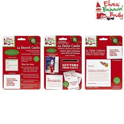 Christmas Naughty Elf Daily Report Card Letter To Santa Letterbox Gift Elves