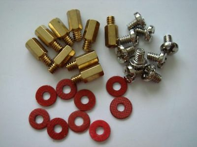 Copper Standoffs Spacer supporter 8 mm for motherboard circuit board Lot of 9