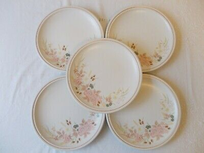 Boots Hedge Rose 5 salad plates & 2 tea plates