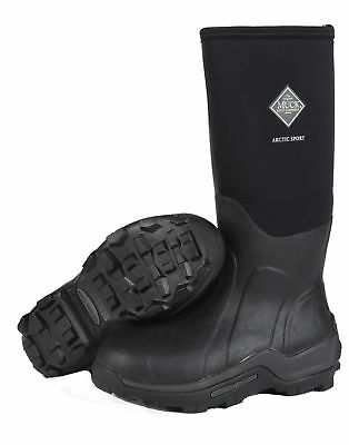 Muck ASP-000A Men's Arctic Sport Tall Insulated Winter Boots Black Size 11