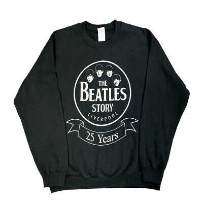The Beatles Story Liverpool 25 Years Men's Sweatshirt Official Music