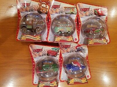 Mattel Disney Pixar Cars 5 car ornaments All 5 are listed in description New