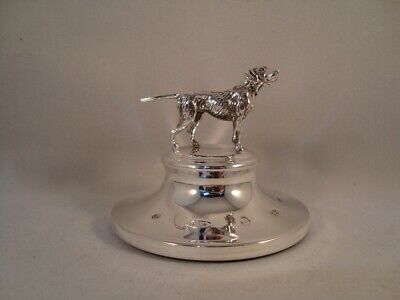 Hallmarked Solid Silver Paperweight With Model Of A Dog