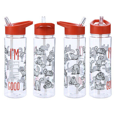YOGA IS FOR POSERS 500ML PLASTIC WATER SPORTS DRINKS LUNCH BOTTLE WITH STRAW
