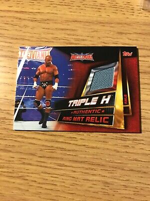 WWE Slam Attax Universe Triple H Ring Mat Relic Card Topps