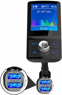Bluetooth Car Fm Transmitter, Mp3 Player, Charger Hands Free Kit Dual Usb Colour