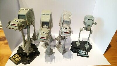 star wars galoob action fleet 3 at-ats and an at-st(LFL 1995)