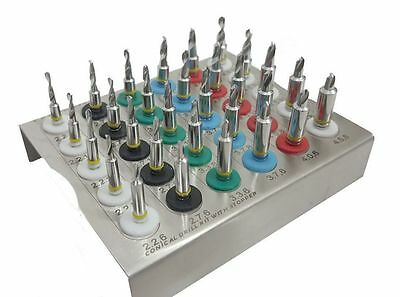 Dental Implant Conical Drills Kit with Stopper Set of 30 PCs/ Implant Kit 21