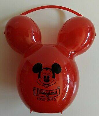 Disney Parks Disneyland 60th Mickey Mouse Red Balloon Souvenir Popcorn Bucket