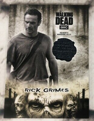 The Walking Dead Topps Hunters And The Hunted Rick Grimes Relic Card
