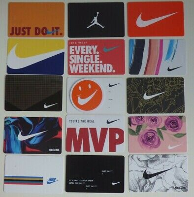 NIKE Collectible Gift Cards - LOT of 15 Different - Michael Jordan - No Value