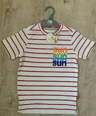 Little Bird By Jools Oliver Mothercare Sun Stripped  T-shirt 5-6 BNWT🌈