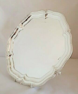 Antique sterling silver Tray / Salver . Sheffield 1927.By Walker & Hall