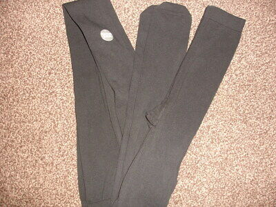 Girls M&S Thick Black Tights x 2 Pairs  -  Age 11-12 Years  BNWOT