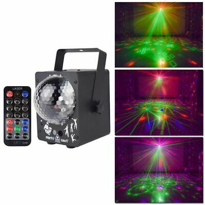 Led Disco Stage Lights Ball Lamp Sound Activated Laser Projector Effect Light