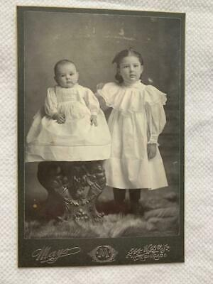 Antique Cabinet Card Photo Beautiful Little Girl Children Chicago Mayo