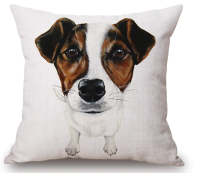 Jack Russell Terrier Dog Soft Velvet Feel Cushion Cover With Inner AD-JR54-CPW