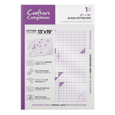 "Crafter's Companion Glass Cutting Mat - 13"" x 19"" - Toughened Craft Surface"