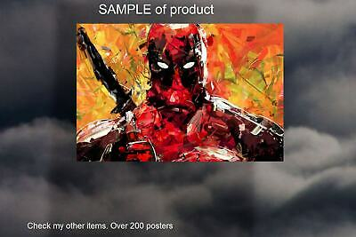 LAMINATED,MOVIE, ART POSTER PRINT, 61x91CM (24x36inch),DEADPOOL RED