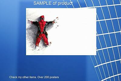 LAMINATED,ART POSTER PRINT, 61x91CM (24x36inch),Deadpool on the wall