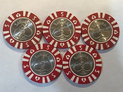 $5.00 Sahara Hotel & Casino Las Vegas Nevada CIC Chip Lot