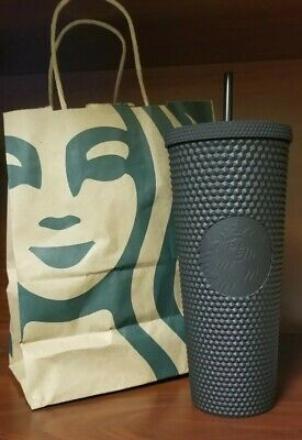 Fall 2019 Starbucks Matte Black Studded Tumbler Cold Cup Limited Edition 24 Oz