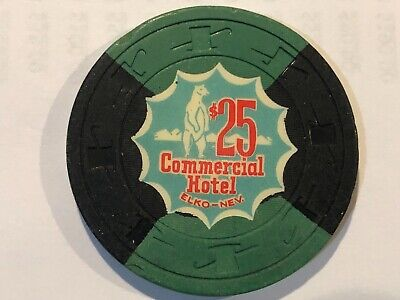 $25 Commercial Hotel Casino Chip  Elko, Nevada Hard to Find Chip Free Shipping