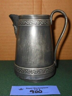 Antique Middletown Plate Co. Syrup Creamer Pitcher Quadruple Silver Plate 1800's