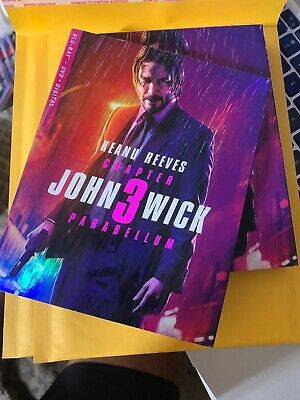 John Wick: Chapter 3 - Parabellum, 2019 (Blu-Ray + DVD + No Code. Open But New!!