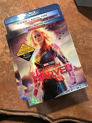 CAPTAIN MARVEL (BLU-RAY/ No Code) Open But Unused - FREE SHIPPING