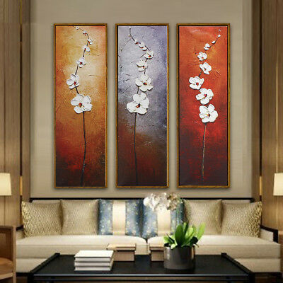 3Pcs Colorful Flower Canvas Oil Print Painting Picture Wall Home Decor Unframed