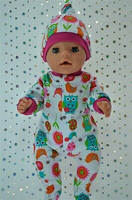 """Play n Wear Dolls Clothes To Fit  17"""" Baby Born PATTERNED STRETCH AND GROW~HAT"""