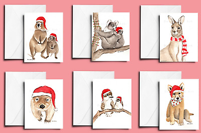 Handmade Christmas Cards - Buy 2 Get 1 Free - Australian animal xmas card