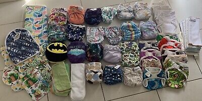 Mixed Cloth Nappy Bundle. 20 Nappies. Including Designer Bums