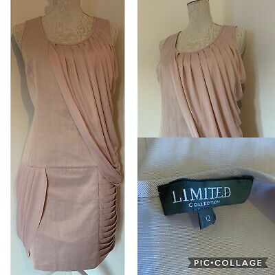 MARKS AND SPENCER Limited Collection Blush Pink Mini Dress VGC Size 12 (D21)