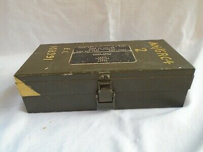 Scatola valvole radio militare  US Army    signal  corps AN/GRC     1953