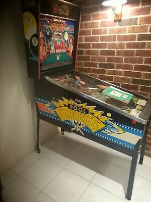 Pinball Machine Original Bally 1990 Pool Sharks 8 and 9 Ball Great Mans cave toy