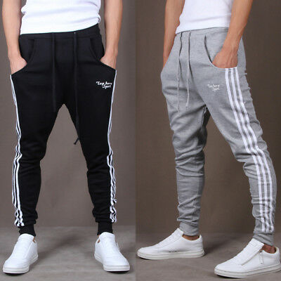 Men's Gym Slim Fit Trousers Tracksuit Bottoms Skinny Joggers Sweat Track Pants