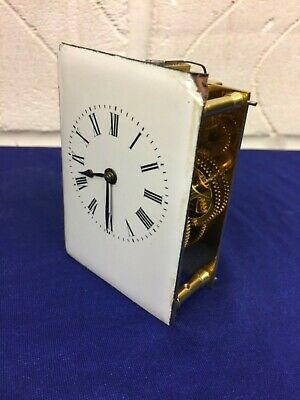 Excellent Carraige Clock Movement & Dial, In Great Working Order.