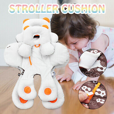 Newborn Body Stroller Cushion Pad Liner Mat Head Neck Support Pillow Adjusted